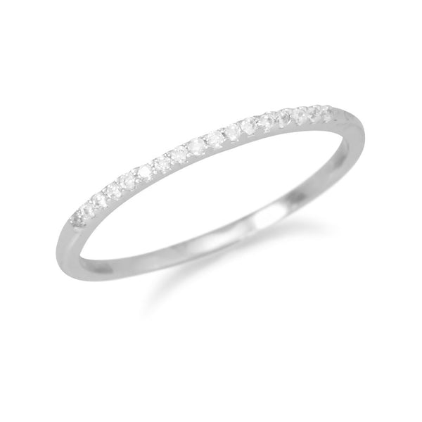 Thin Band Cubic Zirconia Ring