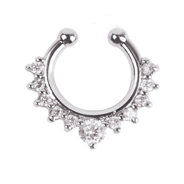 Silver Tone Septum Nose Ring