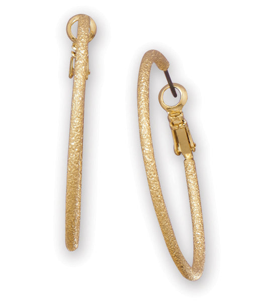 Gold Tone Stardust Fashion Hoops