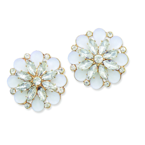 White Flower Fashion Earrings