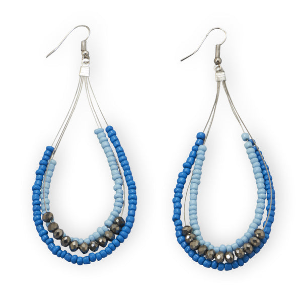 Singing The Blues Fashion Earrings