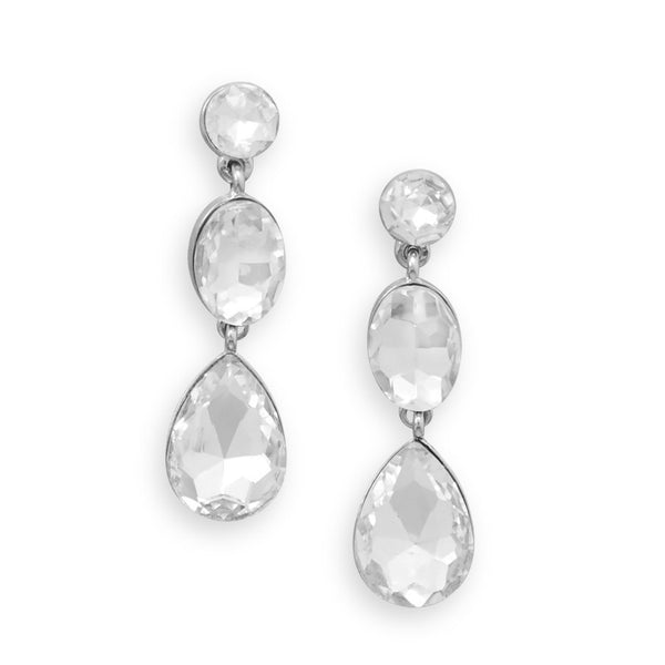 Gorgeous Multishape Crystal Drop Earrings