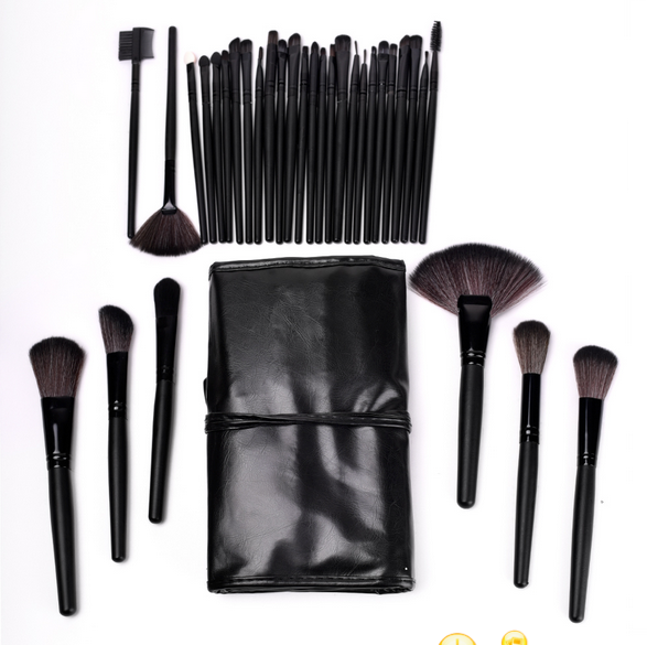 Makeup Brush Set with Roll Up Bag