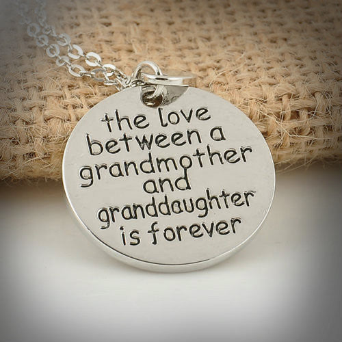 The Love Between Grandma & Granddaughter Necklace