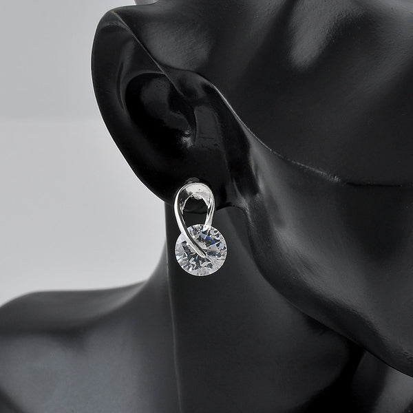 Sparkling Drop Crystal Earrings