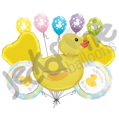 Welcome Baby Rubber Duck Balloon Bouquet