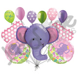 Ellie the Elephant Baby Girl Balloon Bouquet