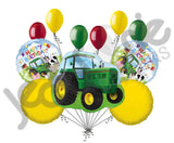 Farm Tractor Happy Birthday Balloon Bouquet