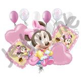 Disney Baby Minnie Mouse 1st Birthday Balloon Bouquet