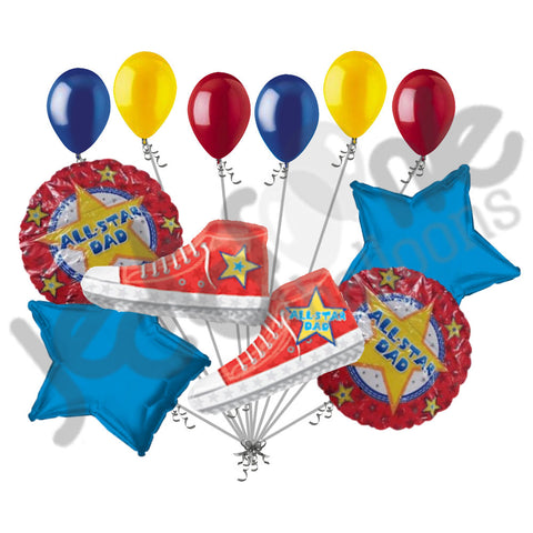 All Star Dad Sneakers Happy Father's Day Balloon Bouquet