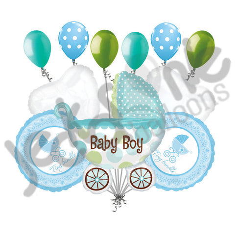 Baby Boy Buggy Balloon Bouquet