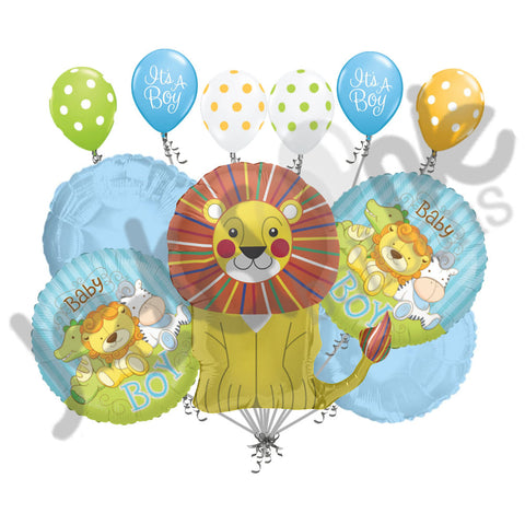 Baby Boy Lion & Jungle Babies Balloon Bouquet