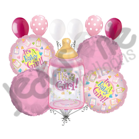 Baby Girl Bottle Balloon Bouquet