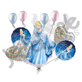 Disney Princess Cinderella Sparkles 1 Balloon Bouquet