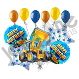 Construction Loader Happy Birthday Balloon Bouquet
