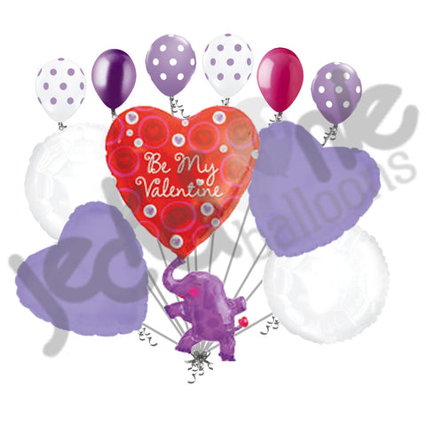 Elephant with Heart Be My Valentine Balloon Bouquet