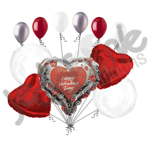 Epic Butterfly Happy Valentines Day Heart Balloon Bouquet