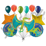 Flying Fire Breathing Dragon Happy Birthday Balloon Bouquet