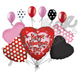 Flying Hearts Happy Valentines Day Balloon Bouquet