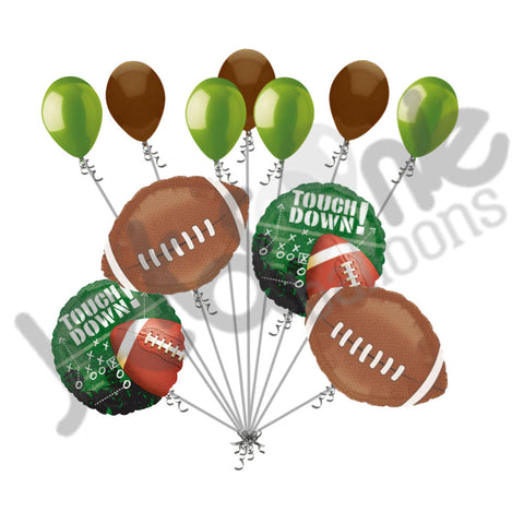 Football Frenzy Touch Down Balloon Bouquet
