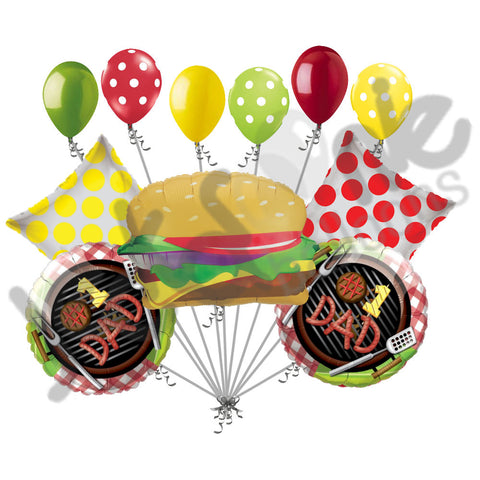 Hamburger BBQ #1 Dad Happy Father's Day Balloon Bouquet