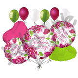 Classic Pink Flowers Happy Mother's Day Balloon Bouquet