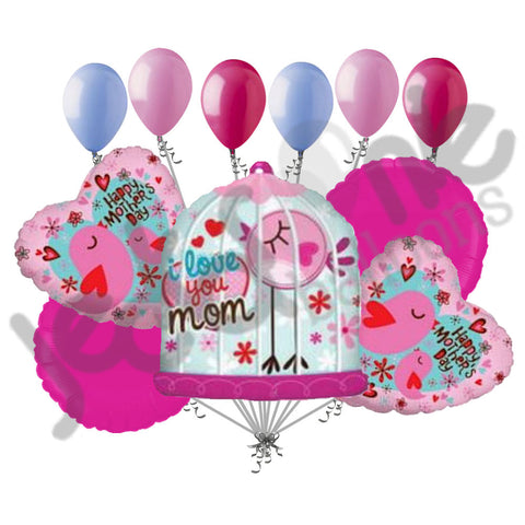 Bird Cage Love Happy Mother's Day Balloon Bouquet