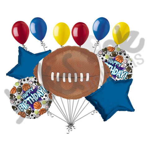 Football Happy Birthday Balloon Bouquet
