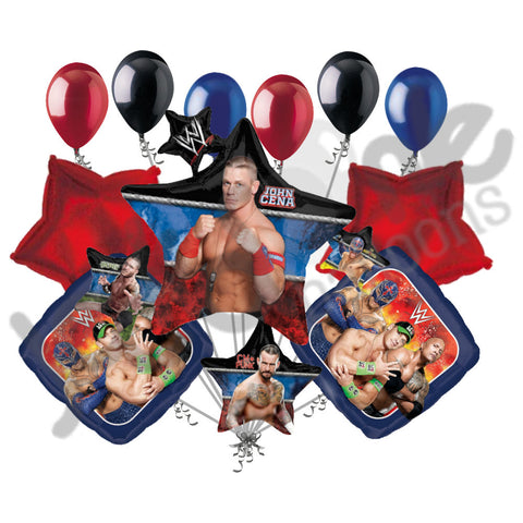 WWE John Cena Star Cluster Balloon Bouquet