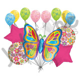 Bright Butterfly Hot Pink Balloon Bouquet