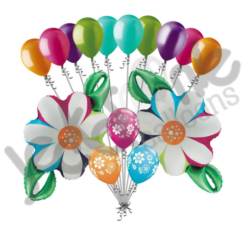 Colorful Daisy Flower Chain Balloon Bouquet