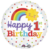 1st Birthday Rainbow Cloud Balloon Bouquet
