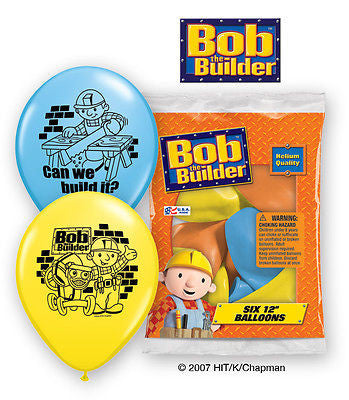 Bob the Builder Latex Balloons