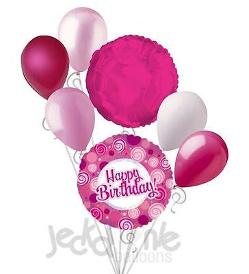 Pink Dazzeloon Happy Birthday Balloon Bouquet