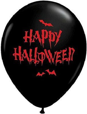 Qualatex Happy Halloween Bloody Letters & Bats Latex Balloons