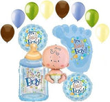 It's a Baby Boy Foot & Bottle Balloon Bouquet