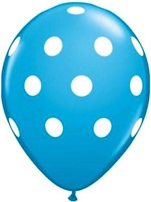 Qualatex Big Polka Dot Robin Egg Blue Latex Balloons