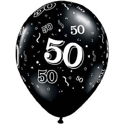 Qualatex Black & White 50 Around Latex Balloons