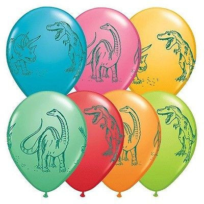 Dinosaurs Action Latex Balloons