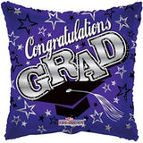Purple Congratulations Grad Square Balloon