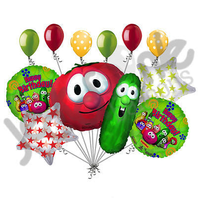 Veggie Tales Happy Birthday Balloon Bouquet