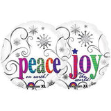 Peace on Earth & Joy to the World Christmas Balloon Bouquet