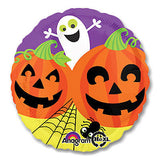White Ghost Pumpkin Patch Halloween Balloon Bouquet