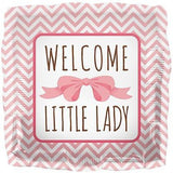 Welcome Little Lady Pink Bow Baby Girl Balloon Bouquet