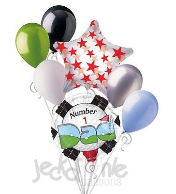 Number 1 Dad Golf & Tee Happy Father's Day Balloon Bouquet