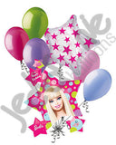 Barbie Star Cluster Happy Birthday Balloon Bouquet