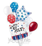 Patriotic Stars & Stripes 4th of July Balloon Bouquet