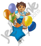 Go Diego Dinosaur Balloon Bouquet