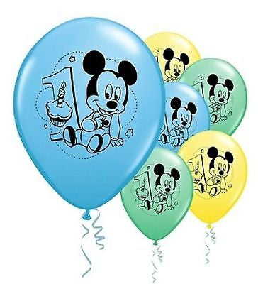 Baby Mickey Mouse 1st Birthday Latex Balloons