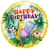 Jungle Friends Happy Birthday Balloon Bouquet